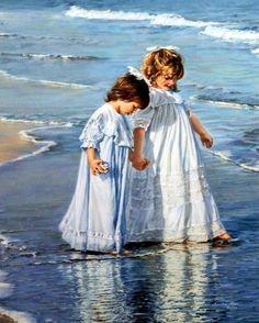"Sandra Kuck "" My Sister My Friend"" Seaside Art Print 16"" x 20"" | eBay"