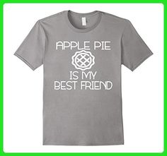 Mens Apple Pie is my best friend  - Funny Food Shirts for Women Small Slate - Food and drink shirts (*Amazon Partner-Link)
