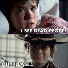 The Walking Dead. Carl... he he