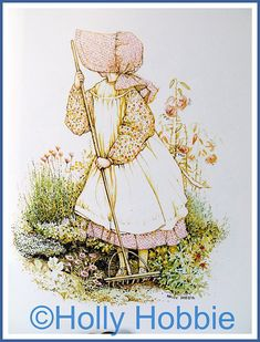 Holly Hobbie...I had a necklace, bedspread, and lunchbox.
