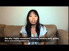 Former Teaching Solutions client reviews the Test Coaching and study guide! teachingsolutions.org