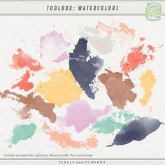 Toolbox: Watercolors by Gennifer Bursett at Pixels & Co.
