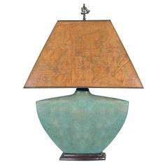 Turquoise Ceramic Table Lamp - Beach Decor Shop