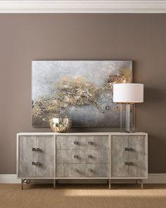 Dining Room Furniture, Modern Furniture, Modern Buffet, Wood Molding, Grey Wood, Adjustable Shelving, Sideboard, Home Furnishings, Luxury Homes