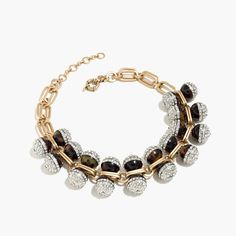 Tortoise and pavé crystal necklace | J.Crew