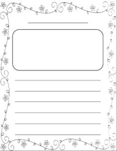 the leaf in this free printable writing template has six lines for