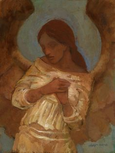 The Angelic Realm: Angel of Empathy. Catholic Art, Religious Art, Figure Painting, Painting & Drawing, Seraph Angel, Entertaining Angels, Lds Art, Angel Images, Angels Among Us