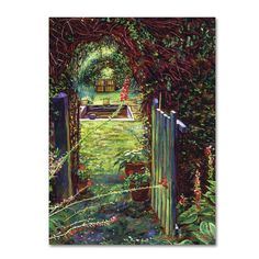"32 in. x 24 in. ""Wicket Garden Gate"" by David Lloyd Glover Printed Canvas Wall Art"