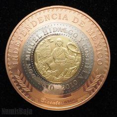 Moneda Trimetálica. Bicentenario -México.