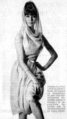1965 fashion by Jeanne Lanvin