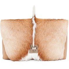 Women s Akris Genuine Python   Springbok Fur Shoulder Bag ( 3 6bd21e7b18469