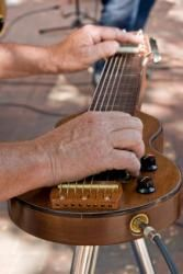 Steel guitar being played live