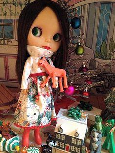 Christmas ~ Apple and her Pokey by moondoxy, via Flickr