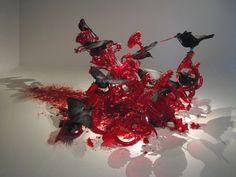 Bloed rode kroonluchter