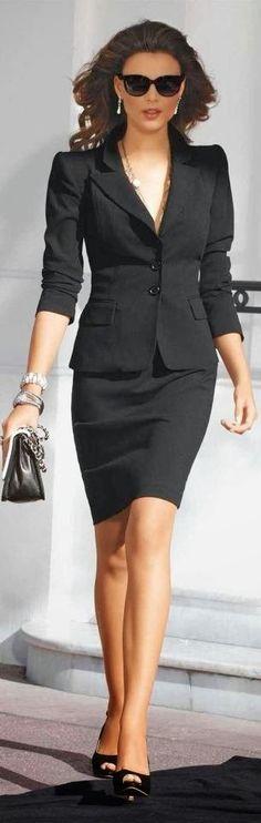 Fabulous all black office outfit suit purse bracelet sunglasses summer outfit style fashion clothing apparel women shoes