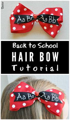 How to Make a Hair Bow for Back to School