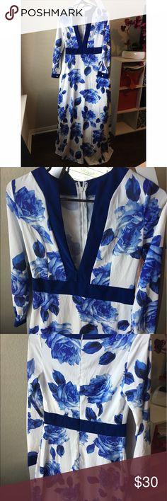 Handmade Floral Dress Most beautiful handmade, floor length dress, perfect condition, size medium Dresses Maxi