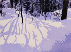 Blue Dusk, linocut print by William Hays - Check out more of his work by clicking through to his website. Art And Illustration, Illustrations, Linocut Prints, Art Prints, Block Prints, Linoprint, Art Graphique, Wood Engraving, Woodblock Print
