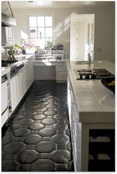 Hate Your Tile Floors? Paint Them Home Pinterest Painted