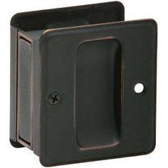 """Schlage 990 Pocket Door Pull, Aged Bronze, 1.75"""" x 2.75"""""""