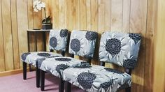 Fun Printed Chairs Can Update Outdated Walls