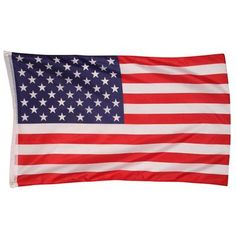 69.00 DKK. Amerikansk nationalflag 60x90 cm. Det Amerikanske nationalflag i 60 x 90 cm, med to messingøjer i bund og top til ophæng. Det Amerikanske flag kaldes også for Old Glory eller Stars and Stripes. Flaget består af farverne rød, hvid og blå og der er både striber og stjerner i flaget.