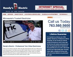 BizzyWeb client Randy's Electric. Randy's one of the best in the business, and a great guy to boot. Love how his site turned out.