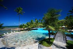 The Nannai Beach Resort is located in Porto de Galinhas, Brazil and it's an exotic retreat, a perfect destination for a romantic getaway. Places To Travel, Travel Destinations, Places To Visit, Travel Things, Beach Resorts, Hotels And Resorts, Nannai Resort & Spa, Amazing Swimming Pools, Romantic Escapes