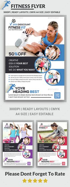 Gym Advertising Flyers Google Search Planet Fitness Pinterest