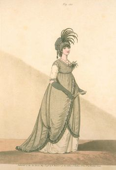1798 Half Mourning. Heideloff's gallery of fashion