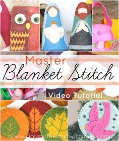 Blanket Stitch Tutorial--video!