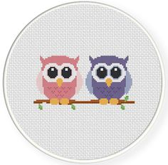 FREE for June 11th 2014 Only - Cute Owls Cross Stitch Pattern