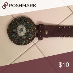 Stone Leather Belt Stone leather belt size large NO TRADE or Lowball Offers Reasonable offers considered through Offer button ✅✅ Accessories Belts