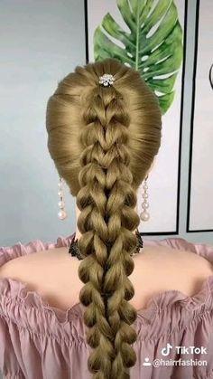 Hairdo For Long Hair, Long Hair Video, Easy Hairstyles For Long Hair, Up Hairstyles, Easy Toddler Hairstyles, Braided Ponytail Hairstyles, Braided Hairstyles Tutorials, Braid Hair, Wedding Hairstyles