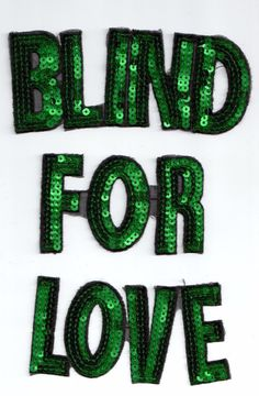 Sequin Patches: Blind For Love | eBay