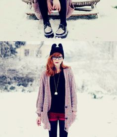 Snow White. (by Chloe D ( coconut )) http://lookbook.nu/look/4477057-Snow-White - shorts in the winter?? yes please!