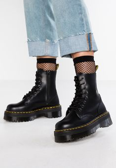 Dr. Martens JADON ZIP - Platform ankle boots - black - Zalando.co.uk