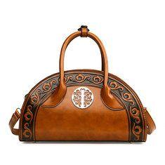 High-quality Women PU Leather Retro Rose Tote Bag Crossbody Bag - NewChic Mobile