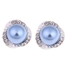 New Fashion Pearl Stud Earrings Hot Sale Classic Silver Plated Zircon Pearl Earring For Women Girls Brincos Jewelry //Price: $7.95 & FREE Shipping // #accessories #love #crystals #beautiful
