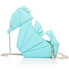 Kate Spade Breath Of Fresh Air Origami Seahorse ($328) ❤ liked on Polyvore featuring bags, handbags, blue crossbody bag, kate spade handbag, kate spade purses, crossbody handbags and blue crossbody