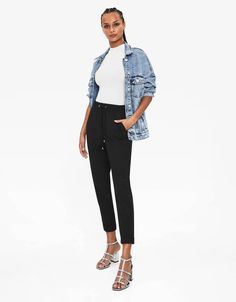 Discover this and many more items in Bershka with new products every week Fashion News, Latest Fashion, Harem Pants, Trousers, You Sure, Jogging, Saudi Arabia, United Kingdom, Fall