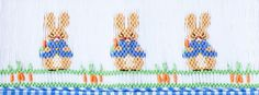 Peter Cottontail smocked for Sew Beautiful.  Gwen Milner Designs