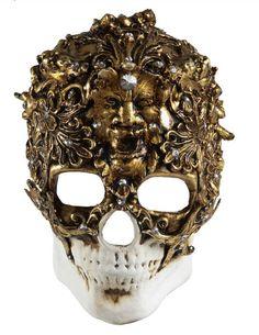 Skull Venetian Mask