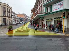 """""""Pilot project"""" by Jan Gehl Architects, 2015, Xalapa #mexico #placemaking…"""