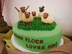 Pastor appreciation sheep cake
