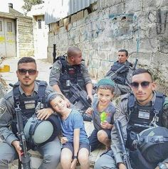 IDF soldiers protecting the children