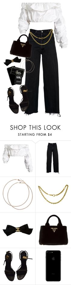 """heaven is in your eyes"" by damndushi ❤ liked on Polyvore featuring E L L E R Y, RE/DONE, Wet Seal, Chanel, Prada and Gucci"