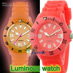 Wholesale - Dropping Colorful Plastic Newest Model Hot Sale Vogue High Quality Luminous Wrist Watch W8686