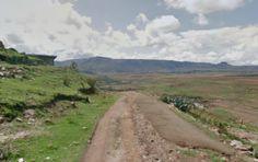 Rural road in Morija, Mafeteng, Lesotho Africa 8.8 miles @iFit @NordicTrack #treadmill