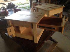 End table pistol drawer